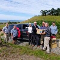 White Rock Dotterel Group Trap Handover