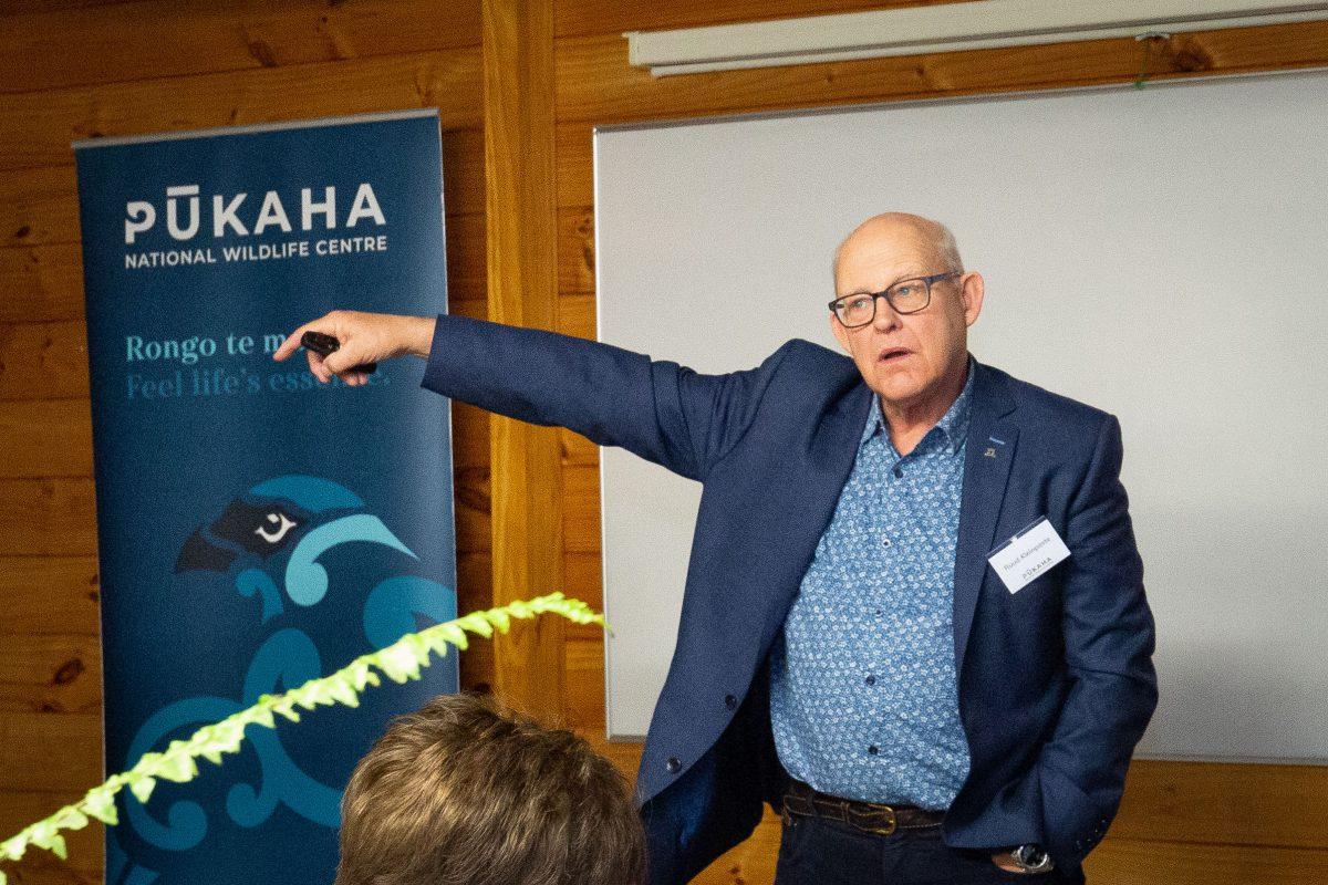 Ruud Kleinpaste aka 'Bugman' at Pūkaha National Wildlife Centre