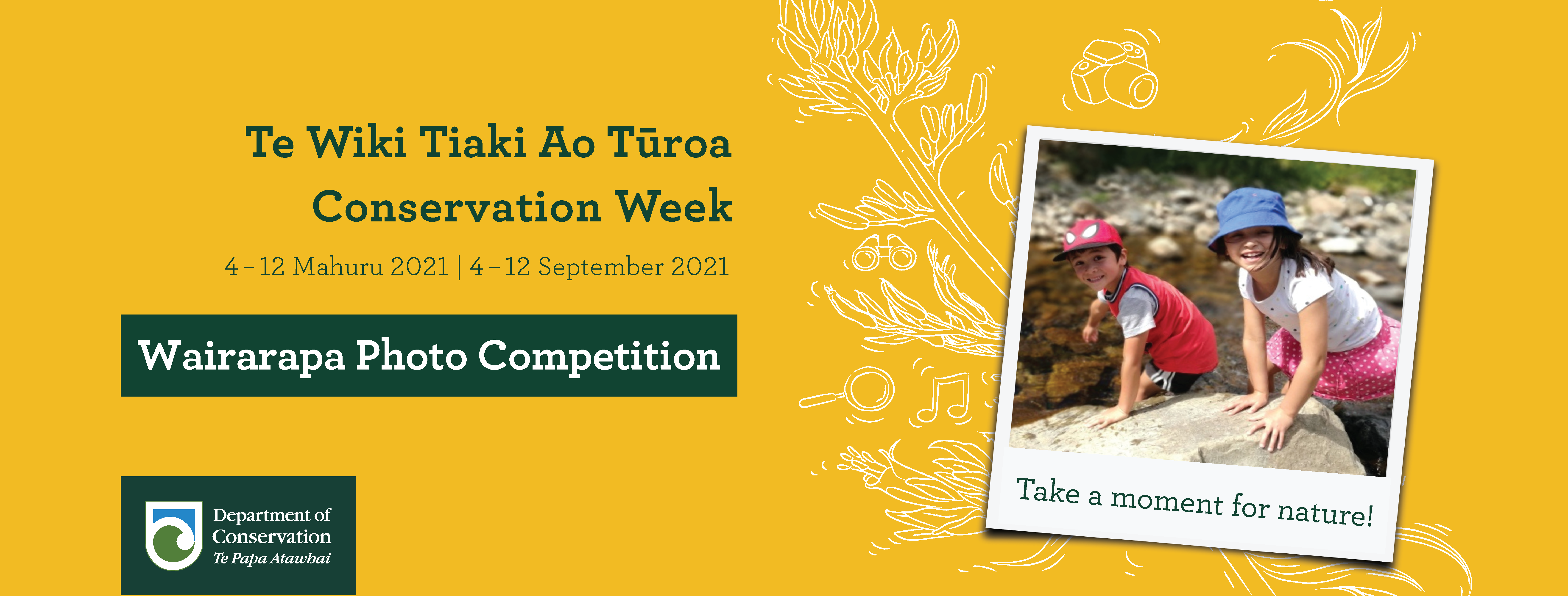Wairarapa Conservation Week Photo Competition Banner 01